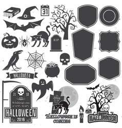 Halloween vintage icon emblem or label vector