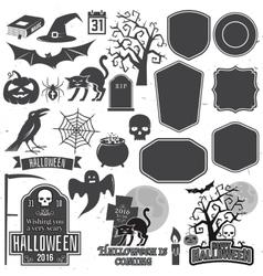 halloween vintage icon emblem or label vector image