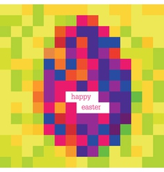 Happy easter pixels vector