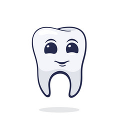 Happy smiling healthy adult human tooth vector