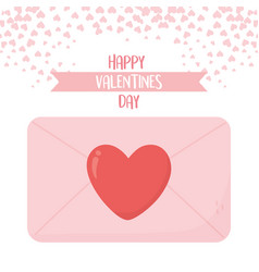 Happy valentines day message love heart message vector