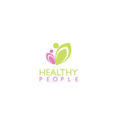 Healthy people beauty logo vector