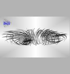 hinges and spirals of black stripsbig bang 3d vector image
