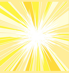 Hot and glittering summer sun vector
