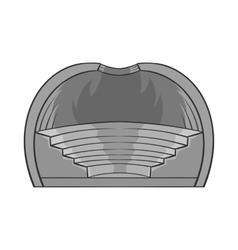 Indoor stadium icon black monochrome style vector