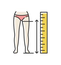 Inside leg length rgb color icon human body vector