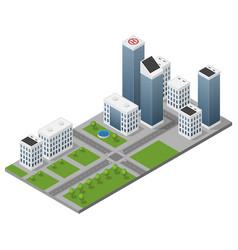 isometric isolated modern city vector image