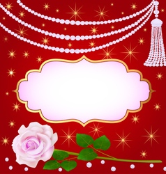 Llustration wedding background with rose vector