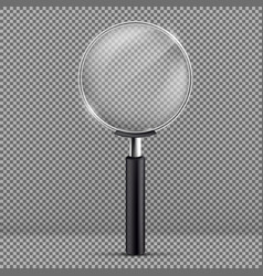 magnifying glass with black plastic handle vector image