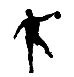 male handball player vector image