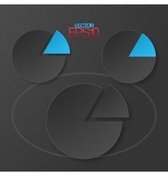 Modern flat minimalistic design diagrams vector image