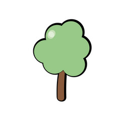 Natural tree to ecology care icon vector