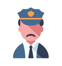 policeman flat vector image