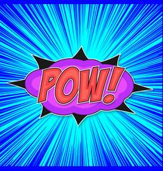 pop art bomb pow vector image