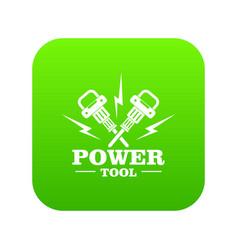 power bump icon green vector image