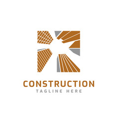 property construction building logo design symbol vector image