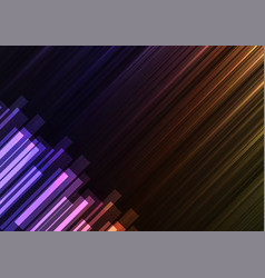 Rainbow speed bar overlap in dark background vector