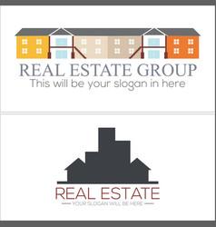 Real estate mortgage building apartment logo vector