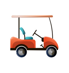 Red modern golf car with electric powerful engine vector
