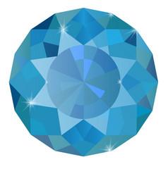 Sapphire blue diamond vector