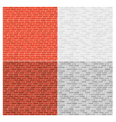 set different color bricks vector image