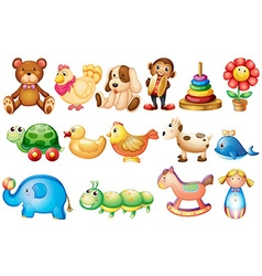 Set different types toys vector