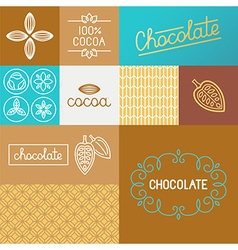set of design elements for chocolate packaging vector image