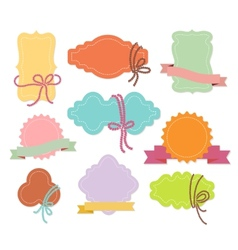 Set of labels or tags with ribbons vector