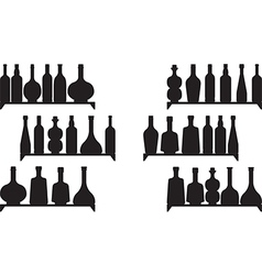 Shelves with booze vector