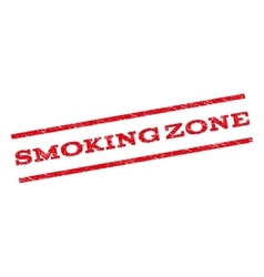 Smoking Zone Watermark Stamp vector image