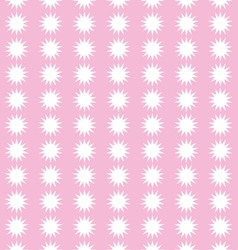 Snow flakes on pink background pattern vector