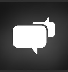 speech bubbles icon chat concept black background vector image