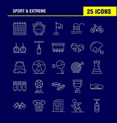 Sport and extreme line icons set for infographics vector