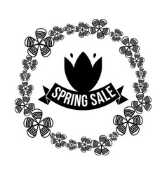 Spring sale and lab vector