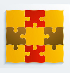 square structure pieces of puzzles vector image
