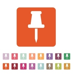 The push pin icon Memo and note attachment vector image