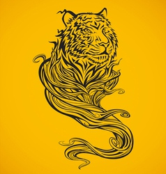 Tiger spirit dark vector