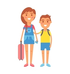 Travel kids vector