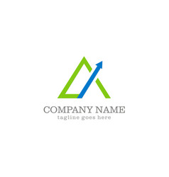 Triangle arrow company logo vector