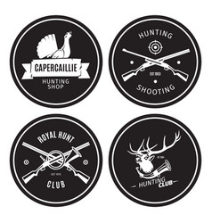 vintage hunting shop emblems vector image