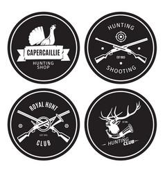 vintage hunting shop emblems vector image