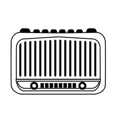 Vintage radio icon image vector