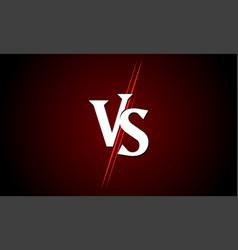 Vs versus icon sport match challenge battle vector