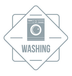 washing logo simple gray style vector image