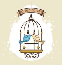 wedding logo design vector image