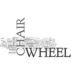 What wheel chair is right for me text word cloud vector
