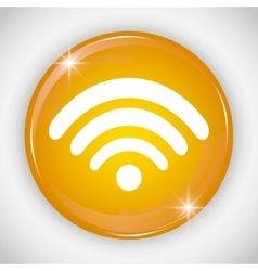 Wifi button icon Social media design vector
