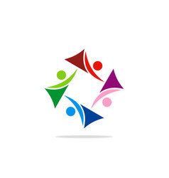 circle abstract people group diversity logo vector image vector image