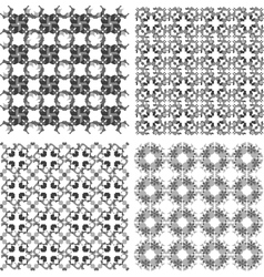 Seamless patterns set with semicircular elements vector image