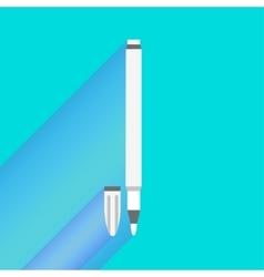 white felt-tip pen cartoon vector image